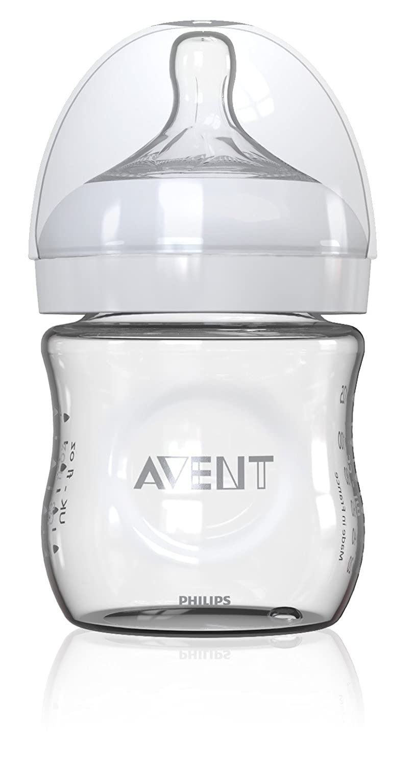 Philips Avent Natural 8oz Glass Baby Bottle, 1 pack, SCF673/17