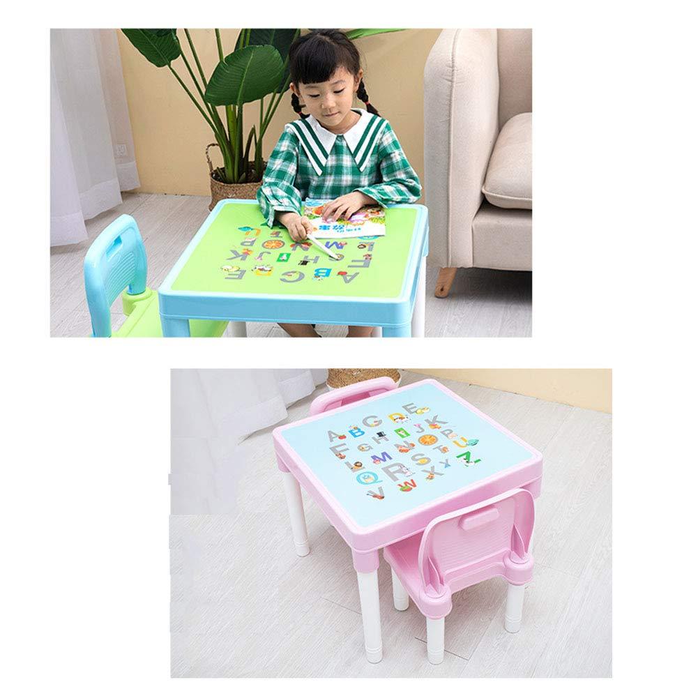 UTEX Table Set 2 in 1 Kinder BAU Spieltisch mit Schubladen und eingebauten Platte wei/ß