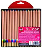 interesting office color combination ideas Koh-I-Noor Tri-Tone Multi-Colored Pencil Set, 24 Assorted Colors in Tin and Blister-Carded (FA33TIN24BC)