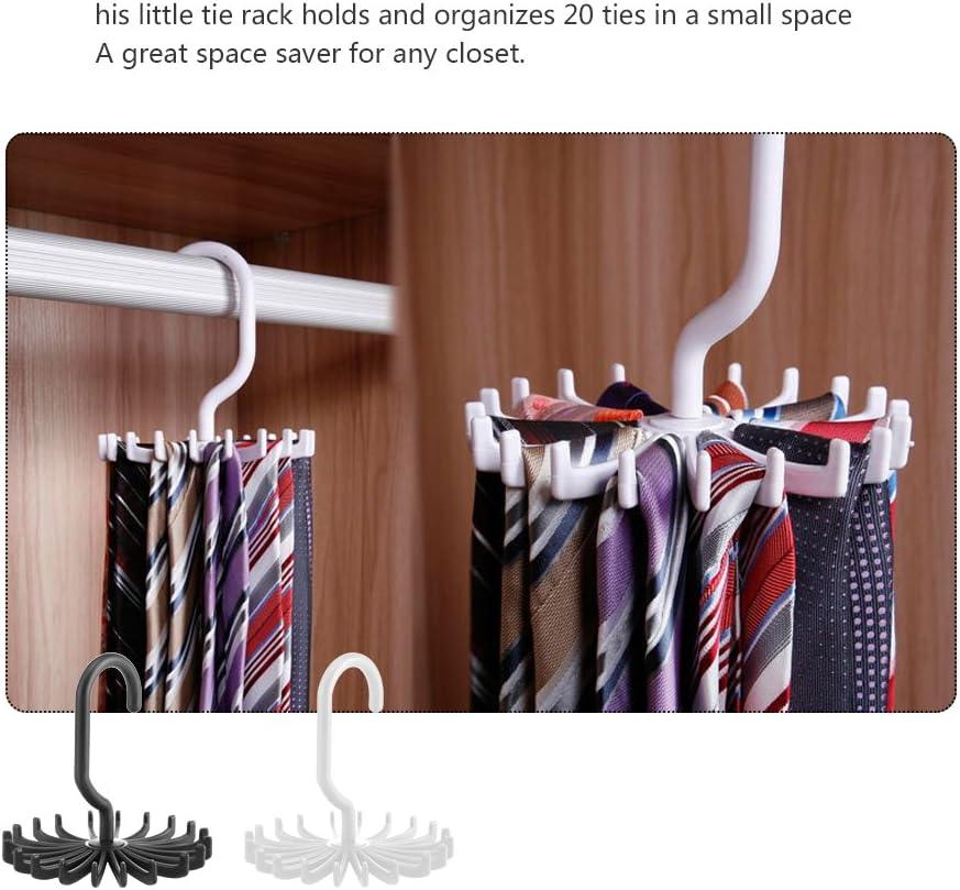 Kleidung Zum Aufh/ängen von 20 Ties Drehbar Verstellbar OurLeeme Kunststoff-Tasche G/ürtelhalterung 360 Grad f/ür M/änner und Frauen Tragbar