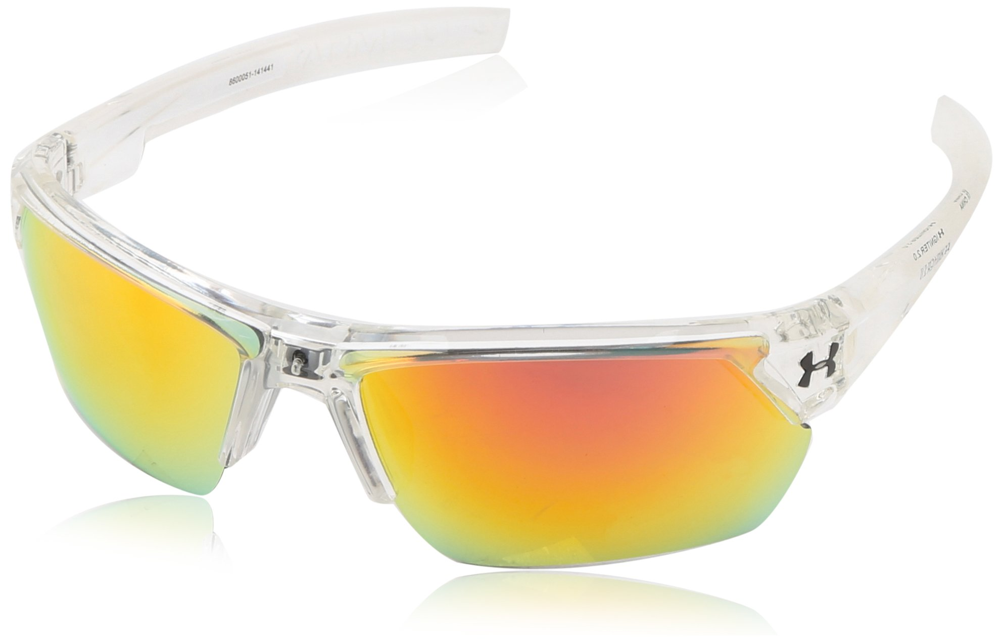 Under Armour Igniter 2.0 Shiny Crystal Clear Frame, with Frosted Clear Rubber and Gray-Orange Multiflection Lens