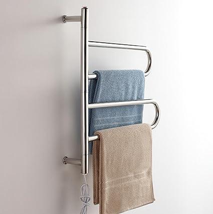WRH-towel warmer Giratorio montado en la Pared de Acero Inoxidable eléctrico toallero/radiador
