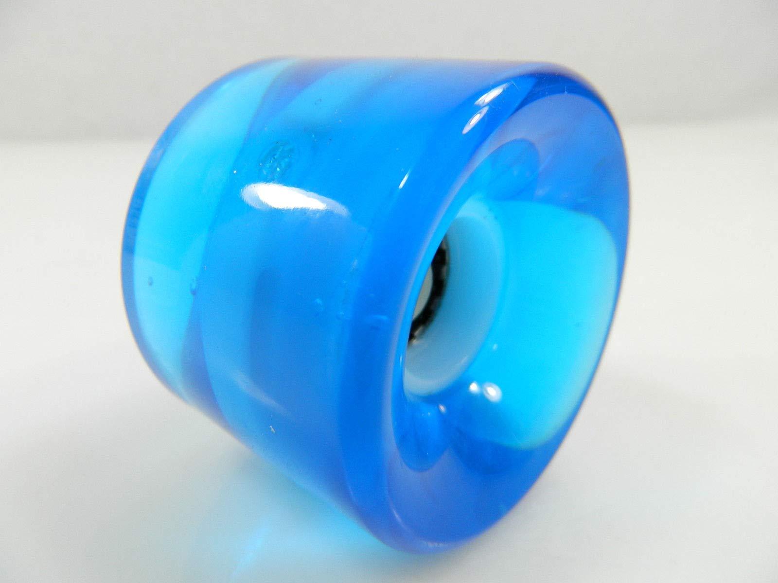 Good Skateboard Clear Blue 60Mm Longboard Cruiser Led Light Up Clear Wheels + ABEC 7 Bearings