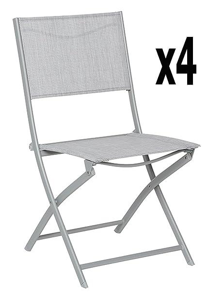Lote de 4 sillas plegables BELVEDERE, rueda de deporte para ...