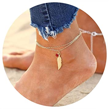 Fashion Jewelry Red Beaded Ankle Chain