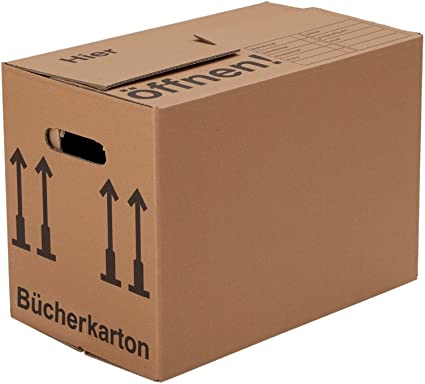 BB-Verpackungen, Cajas para libros, 10 piezas, (profesional) ESTABLE + CANAL DOBLE - Mudanza Cartón Cajas de embalaje Libros Cajas de mudanza Caja: Amazon.es: Bricolaje y herramientas