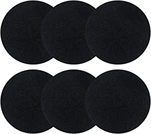 6 Pack Charcoal filters for Kitchen Compost Bins - Thickening Compost Bin Filters Activated Carbon Filters for Kitchen Compost Bin Filters Replacement, 0.4
