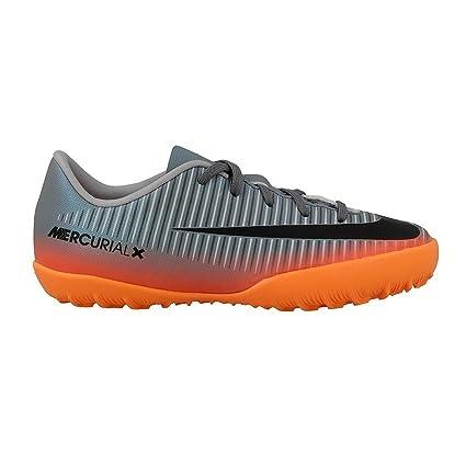 Botas Nike Victory 6 Cr7 Gris/Naranja Suela Turf Niño: Amazon.es: Ropa y accesorios