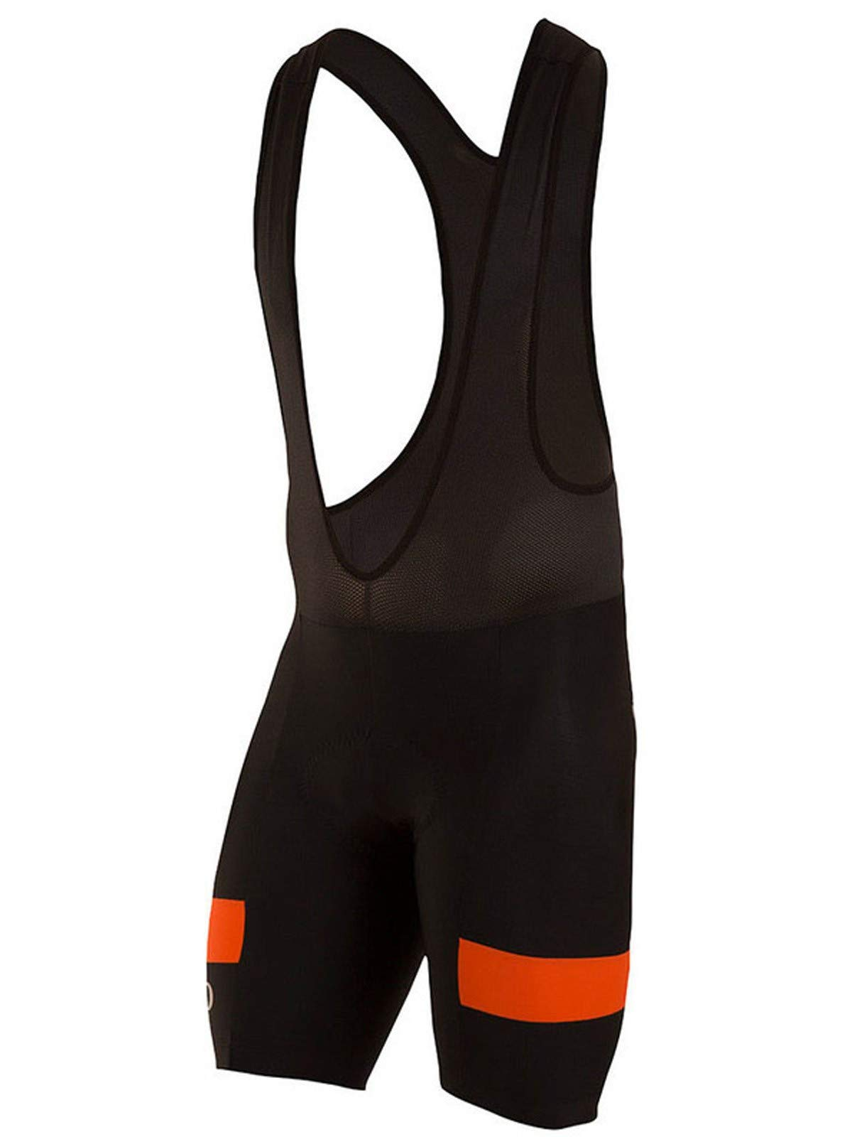 Pearl iZUMi Men's Escape Quest Splice Bib Shorts, Black/Orange Comb, X-Large by Pearl iZUMi (Image #1)