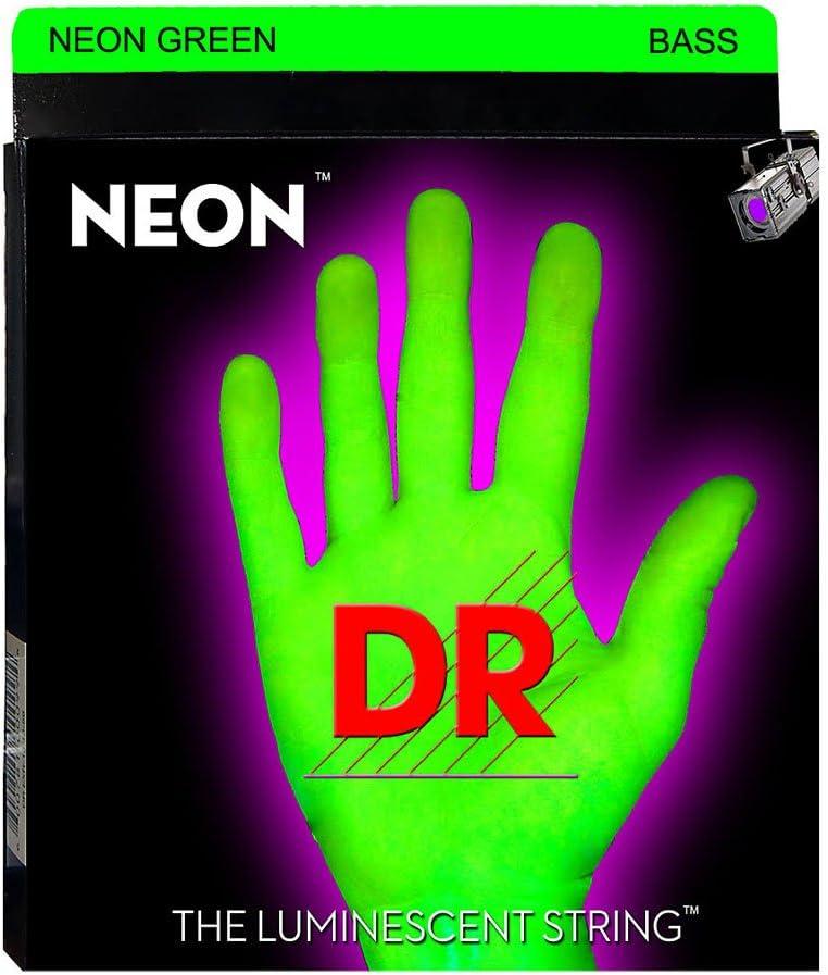 DR String NGB-40 Neon Green Juego Cuerdas Bajo