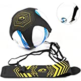 Football Kick Trainer, Mallalah Solo Soccer Trainer Football Training Aid Control Skills Adjustable Waist Belt Practice Training for for children and beginners