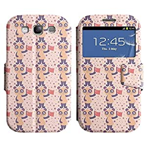 Be-Star Diseño Impreso Colorido Slim Casa Carcasa Funda Case PU Cuero - Stand Function para Samsung Galaxy S3 III / i9300 / i717 ( Cute Animal )