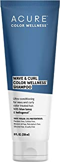 product image for ACURE Wave & Curl Color Wellness Shampoo| 100% Vegan | Performance Driven Hair Care | Blue Tansy & Sunflower Seed Extract - Ultra-Conditioning For Wavy & Curly Color Treated Hair | 8 Fl Oz