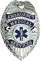 Tactical 365 Operation First Response EMS Paramedic Shield Badge with Colored Star of Life (Nickel)