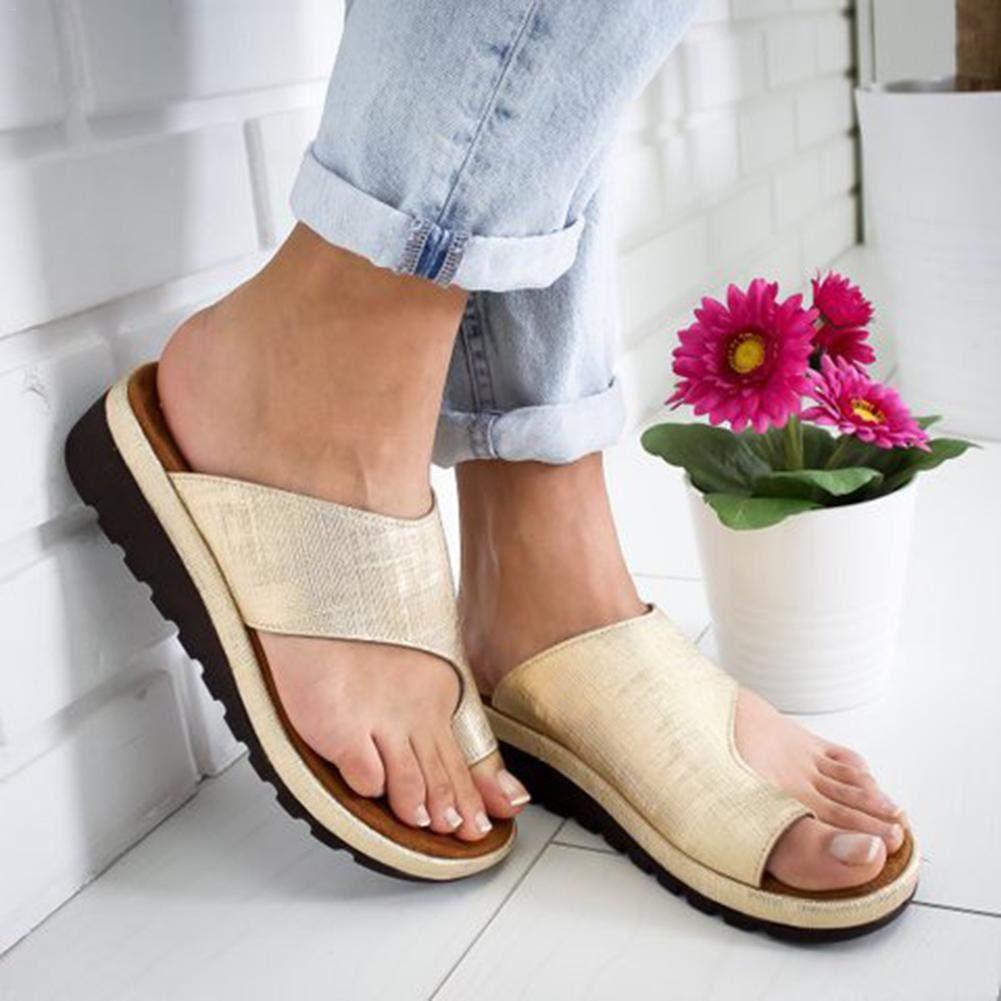 Augproveshak Plataforma de Mujer Sandalia de cuña Corjetes de Zapatillas de juanete correctas para la corrección del Hueso del Dedo Gordo del pie, ...
