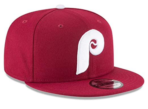 best website 7b61e 259cf Image Unavailable. Image not available for. Color  New Era Philadelphia  Phillies Burgundy White P Cooperstown Link Snapback Hat Cap