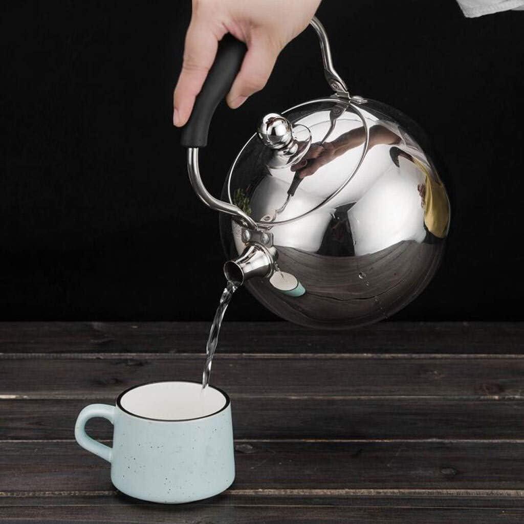 GLSH2 Tragbarer Pfeifkessel Edelstahl Kochfeld Teekessel Klappgriff Verdickung Tee Kaffee Gas Induktionsherd Universal