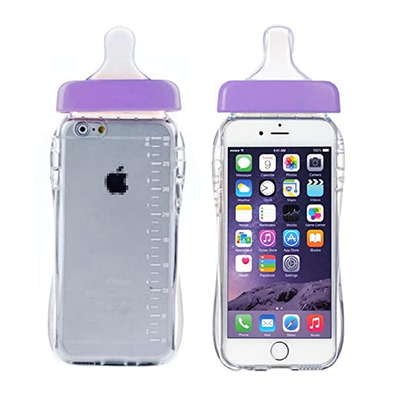 online store 21824 781e9 Fast Jewelry for iPhone 6 Plus Case,6S Plus [5.5 inch] Case, Purple Super  Cute Baby Bottle Soft TPU Silicone Clear Back Anti Slip Protective Case ...