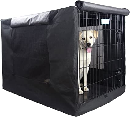 """Extra Large Dog Crate Cover For Kennel Cage Huge Size Pet Single Door Black 42/"""""""