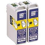 エコリカ エプソン(EPSON)対応 リサイクル インクカートリッジ ブラック 2個パック IC1BK05W ECI-E05B2P