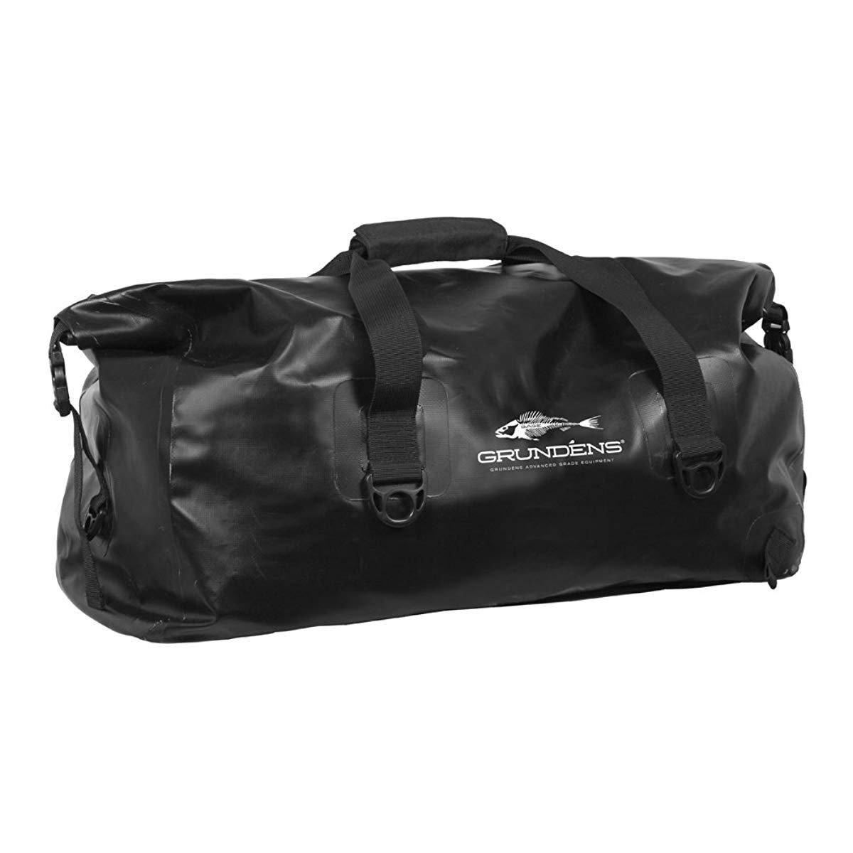 Black One Size Grundens 70043 Shore Leave 55 L Waterproof Duffel Bag