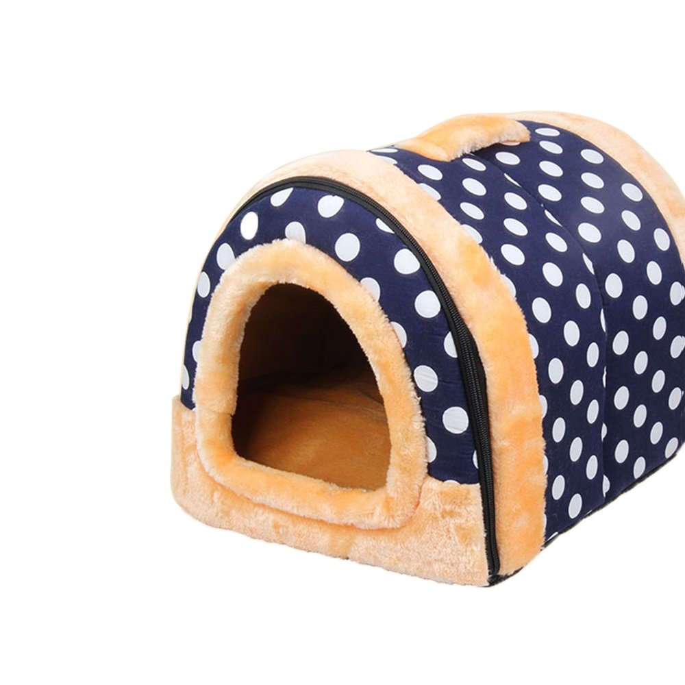 XS YXINY Indoor Outdoor Doghouse Pet Supplies Double Use Cat Nest Warm Kennel Cotton Nest Waterproof Removable And Washable (Size   XS)
