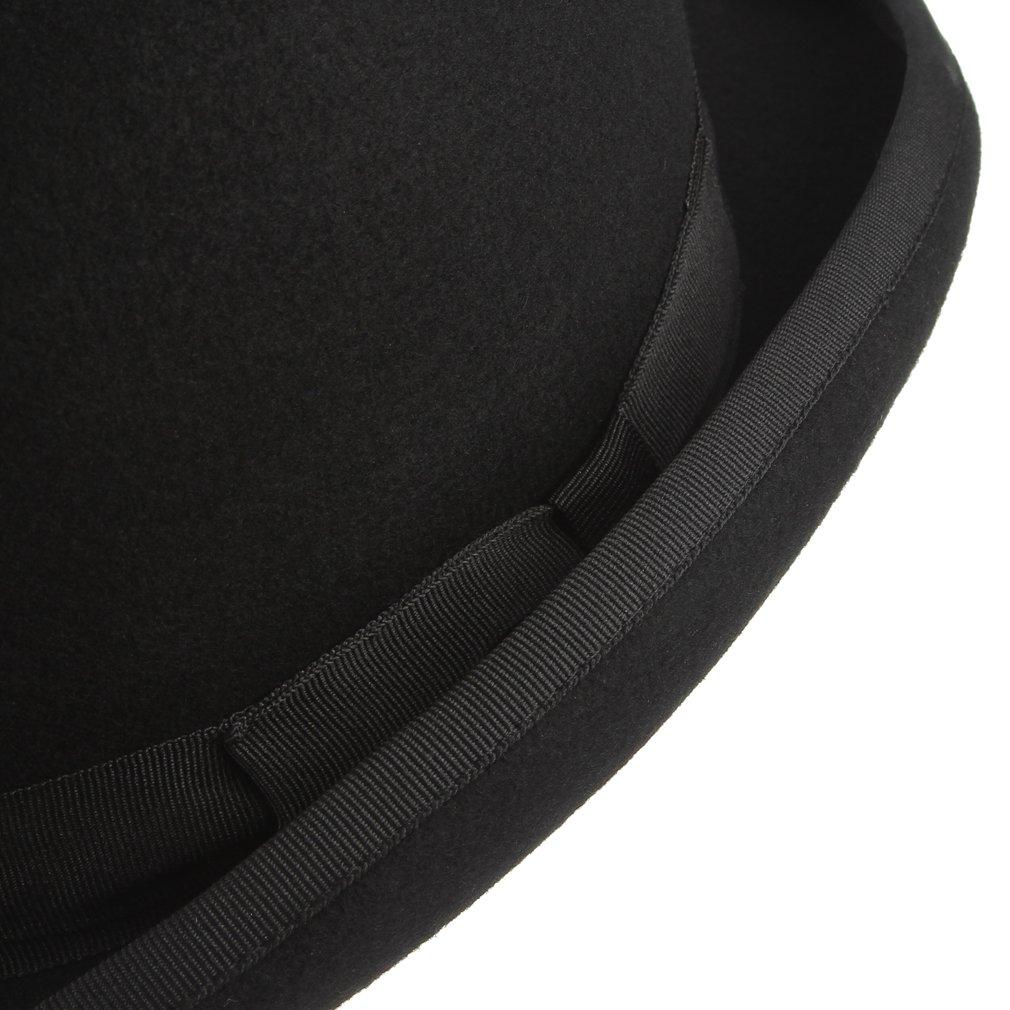 GEMVIE Chapeau Haut de Forme D/éguisement Chapeau de Magicien Classique Spectacle F/ête Soir/ée 100/% en Laine