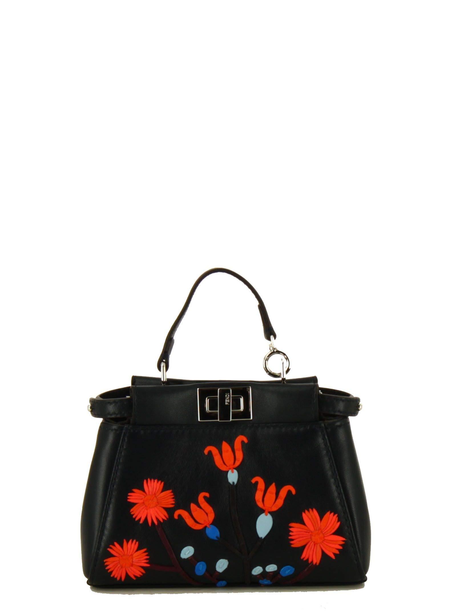 Fendi Women's 8M0355sgaf06qs-Mcf Black Leather Handbag