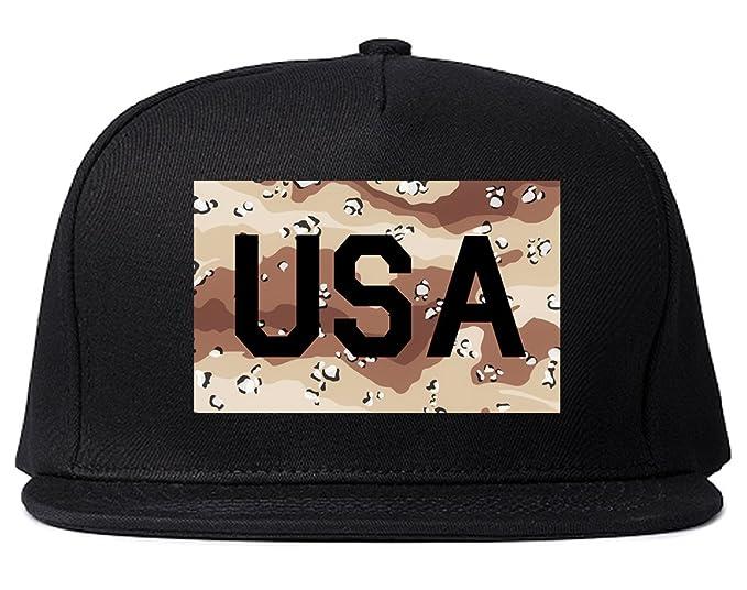 1fec61faab2 USA Desert Camo Army Snapback Hat Cap Black at Amazon Men s Clothing ...
