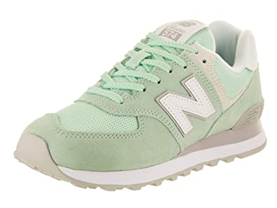 6ce706d8fabe8 Image Unavailable. Image not available for. Color: New Balance Women's 574  Classics Seafoam Running Shoe ...