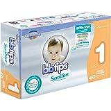 BBtips Sensitive, Unisex, Talla Recién Nacido, 160 Pañales