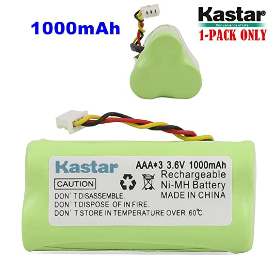 Amazon.com: Kastar 1-PACK AAA 3.6V 1000mAh Ni-MH Rechargeable ...