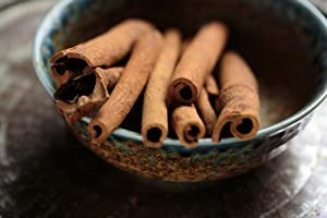 Gifts Delight Laminated 36x24 inches Poster: Cinnamon Stick Spice Food Ingredient Aroma Brown Aromatic Decoration Natural Dry Cooking Cook Season Cassia Bowl