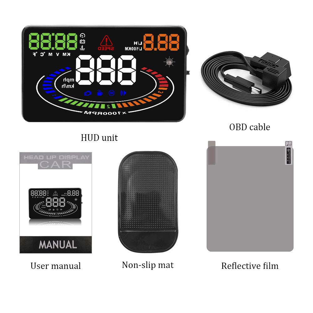 Amazon.com: SONADY HUD OBD2 Head Up Display - Car Velocidad ...