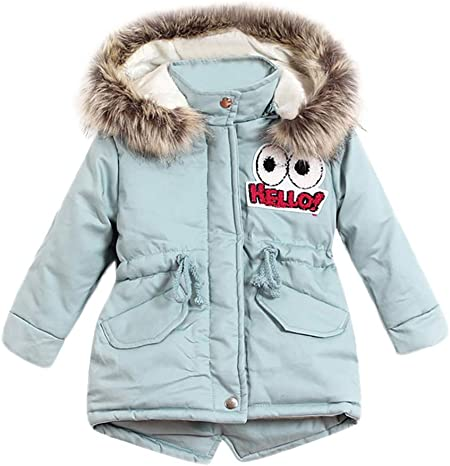 Baby Boys Girls Kids Fall Winter Clothes Hooded Jackets Child Long Sleeve Cartoon Print Coat for 1-6 Years Old