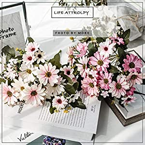 Dried Flowers Artificial Flowers 9 Branch 25 Simulation Aster Fake Flower Wedding Decoration Artificial Sun Flower Bouquet Suitable for Home Innovative Decoration, Wedding Party Decoration 65