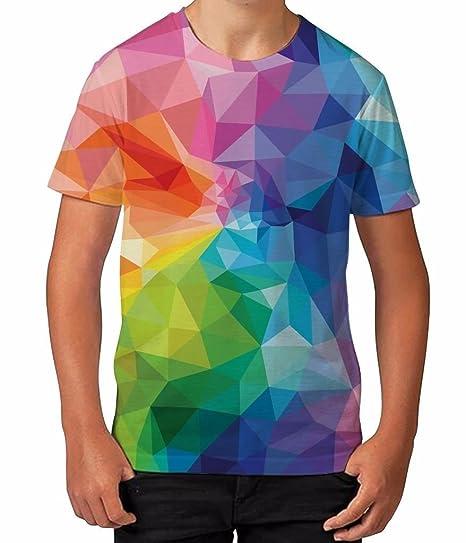 9a4927066 Amazon.com  Bang Tidy Clothing Kids Graphic T Shirt Boys Top Geometric  Colour Youth Tee Shirt  Clothing