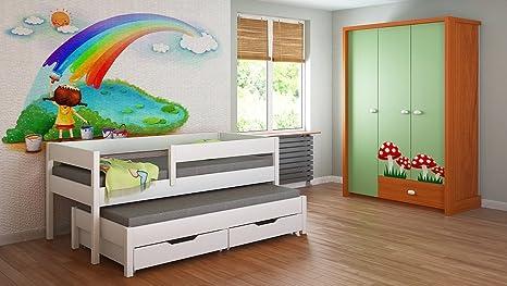 Cama nido para niños Colchones Junior para niños 140x70 160x80 180x80 180x90 200x90 ¡Sin cajones