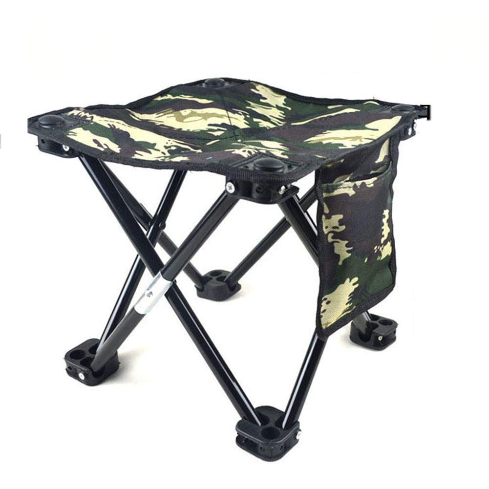 D Portable Folding Stool, Lightweight Frame Stool Chair Outdoor Camping Furniture Fishing Hiking Mountaineering + Flat Feet Stability Carry Bag (color   C)