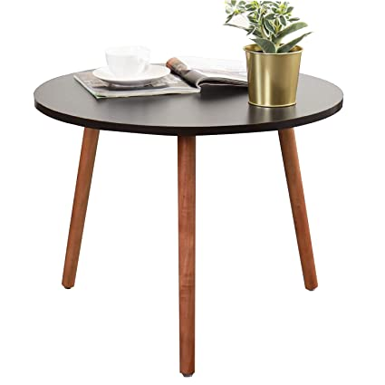 Astonishing Soges Round Sofa Side Tables Coffee Tables Small End Tables Tea Tables Nesting Tables For Home Office Black Walnut Cj013 Bb Pabps2019 Chair Design Images Pabps2019Com