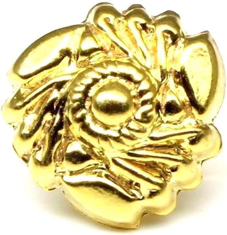 Push Pin nase stud 18g Gold plated nose piercing ring Indian Nose Stud