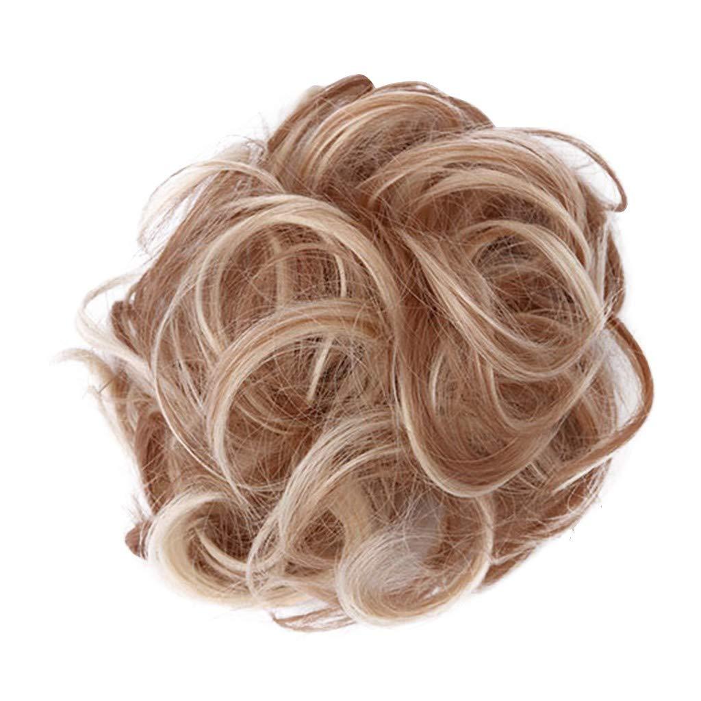 Perruques Femme Cercle de Cheveux /él/égant Facile /à Porter Femmes Filles Cercle de Cheveux /élastiques F Fcostume Elastique Cheveux Elastique Cheveux Fille Perruque Femme Vrai Cheveux Naturel