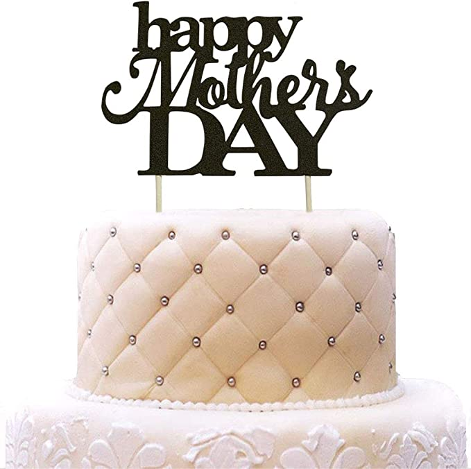 rose gold Happy Mothers Day Cake Topper Best Mom Ever Cake topper Acrylic Cake topper Decorative Party Cake Decoration for Mothers Day