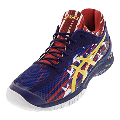 ASICS Unisex Gel-Court FF US Open Tennis Shoes Indigo Blue and Prime Red-