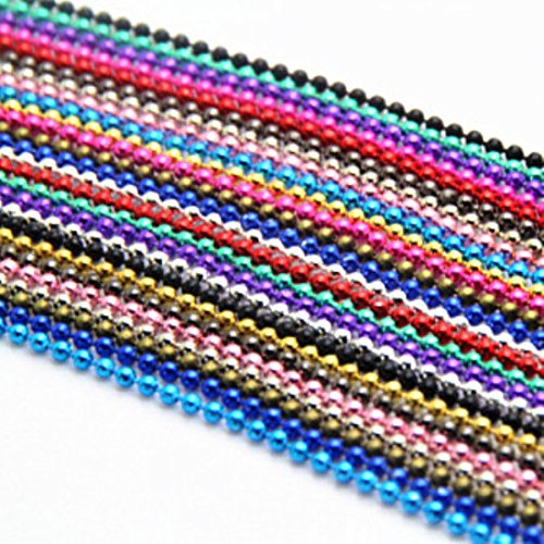 10Strand Ball Beads Chain Summer Jewelry Necklace 2mm Bead Connector 70cm Necklaces & Pendants B00471 (Brighton Bracelet New York)