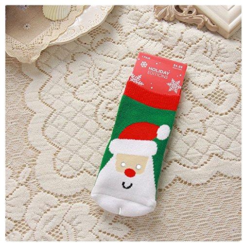 fantastic_008 Christmas Xmas Gift Stocking Kids Warm Slipper Socks Knit Mini Socks 14CM (Santa - Custome Minion
