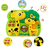 Giraffe Dream Soother Crib Toy - INvench 2 in 1 Nightlight Sleep Soother Slumber Buddies with Dual Projection and…