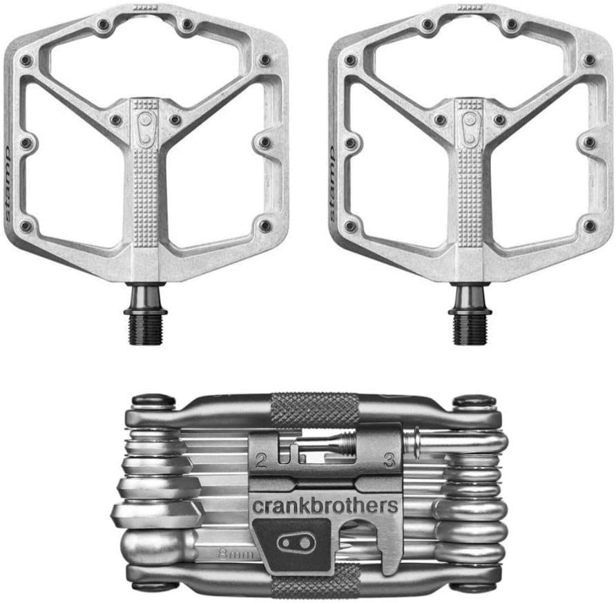 Crankbrothers Stamp 2 Large Lightweight Race//Enduro Bike Pedals Raw//Silver