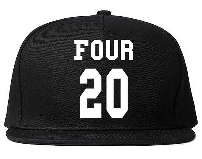 6336fef8f83b7 FASHIONISGREAT Four 20 Team Jersey Weed Womens Girls Snapback Hat Black
