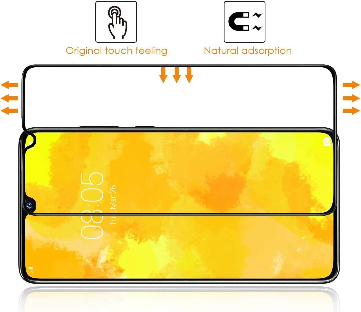 PHONILLICO Lot de 3 Film Protection 100/% Ecran Verre Trempe Resistant Verre Tremp/é Bord int/égral pour Huawei P30 Lite Pack de 3 Vitre Protecteur Anti Rayure